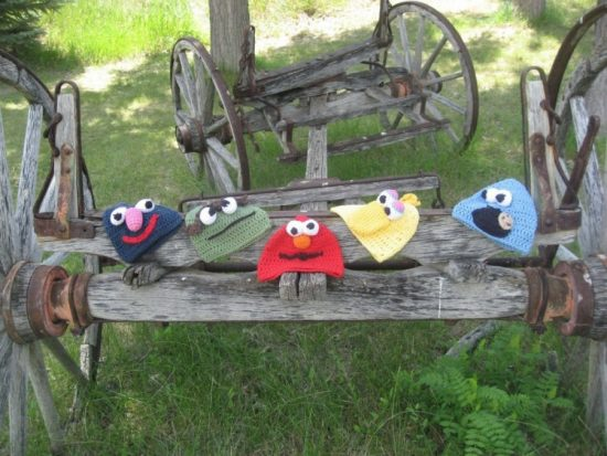 Sesame Street Crochet Hats FREE Patterns