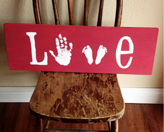Love Hand and Footprint Sign