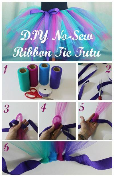 No Sew Ribbon Tie DIY Tutu Tutorial