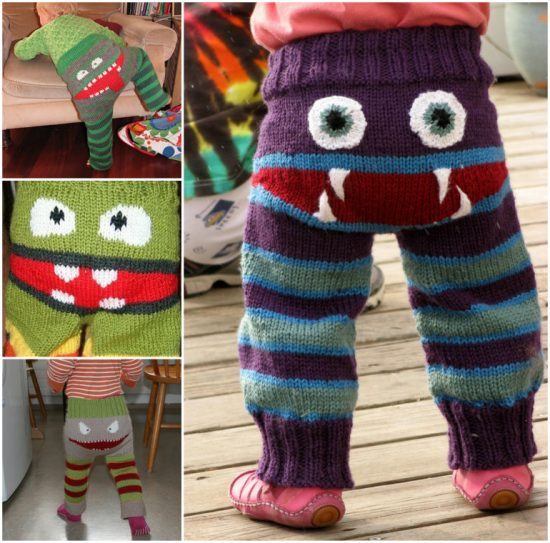 Knitted Monster Pants Pattern Is Super Cute The Whoot