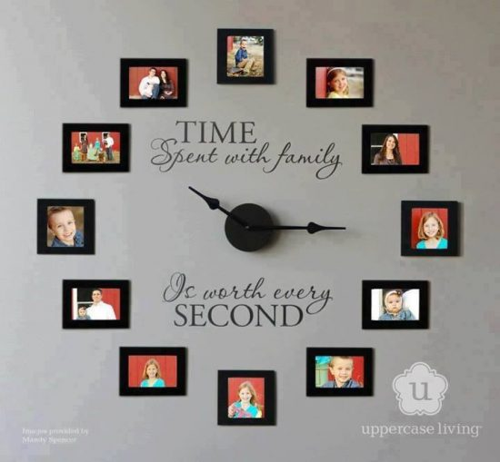 Time spent with the family clock