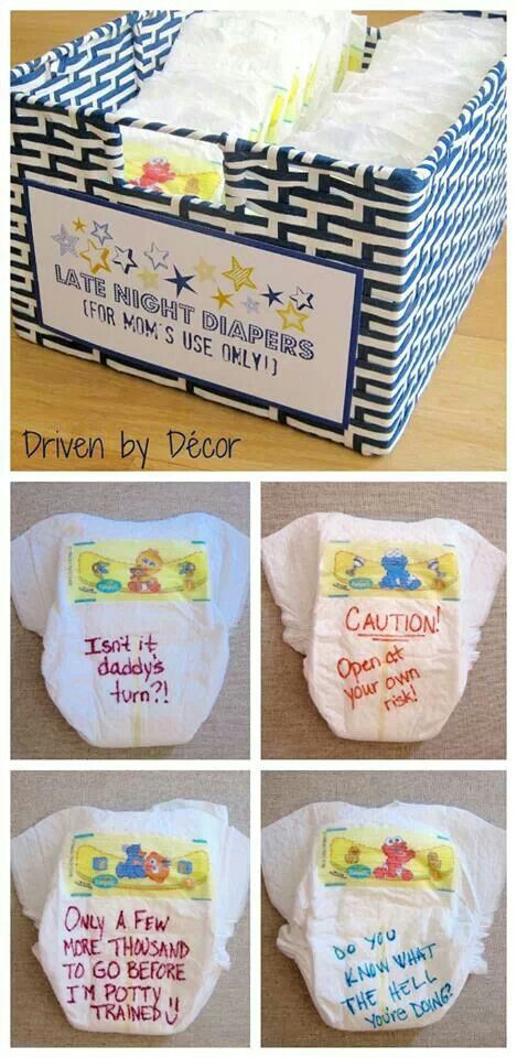 Baby Shower Personalised Diapers