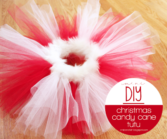 Christmas Candy Cane DIY Tutu Tutorial