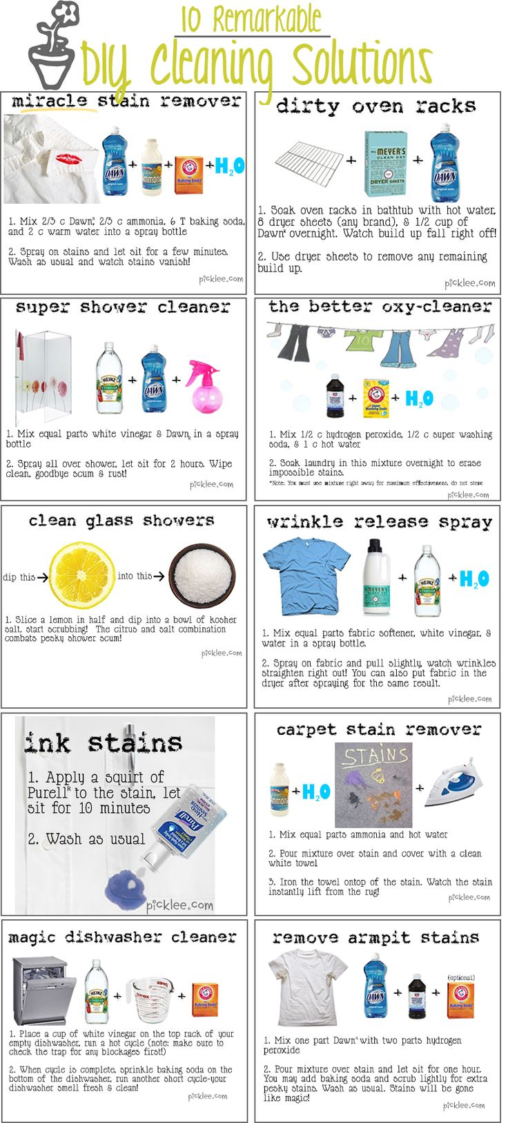 Homemade Cleaners Recipes Will Save You Lots Pinnable