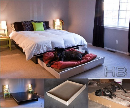 Dog trundle bed