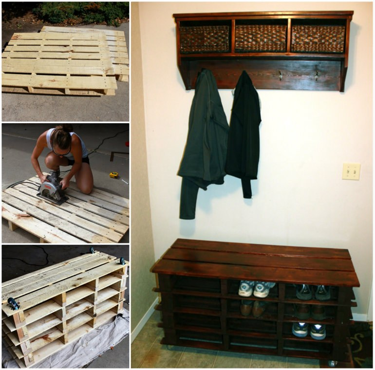 pallet shoe rack instructions