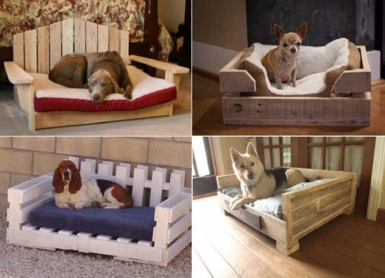 Wooden Pallet Dog Beds