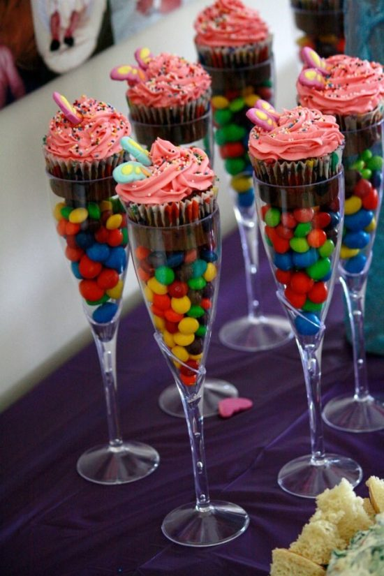 Champagne Flute Cupcake Party Favour