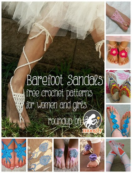 Barefoot Sandals Free Crochet Patterns