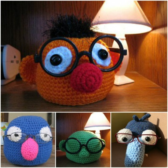 Crochet-Muppet-Eyeglass-Holder