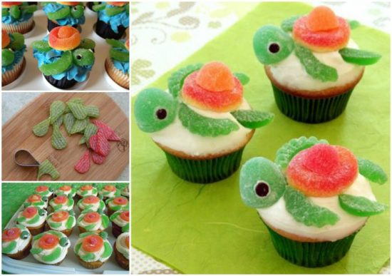 Squirt Turtle Cup Cakes