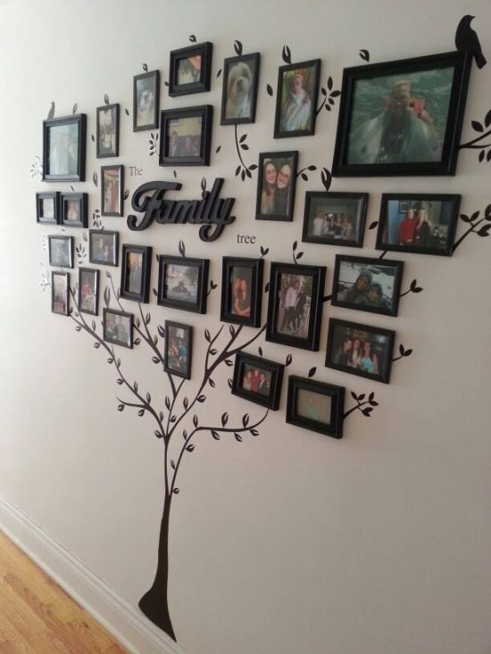 family tree photo wall decal