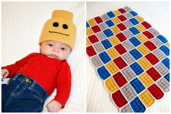 Lego Blanket and Beanie