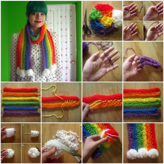 Finger Knitted Scarf Free Pattern