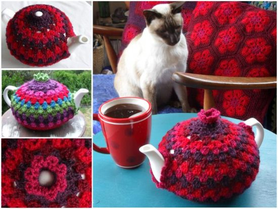 Granny Crochet Tea Cozy Free Pattern