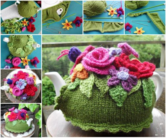 Spring Explosion Tea Cozy Free Knitted Pattern