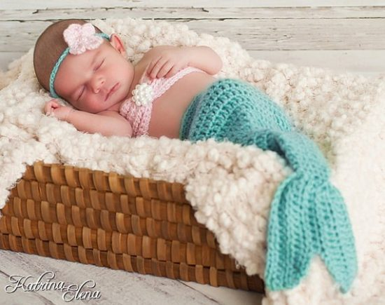Crochet Mermaid Projects Lots Of Free Patterns The WHOot Simple Free Crochet Pattern For Baby Mermaid Cocoon
