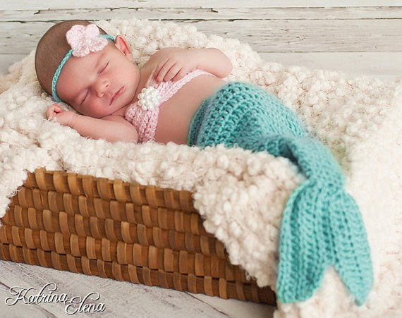 Learn These Crochet Mermaid Baby Outfit Pattern Free