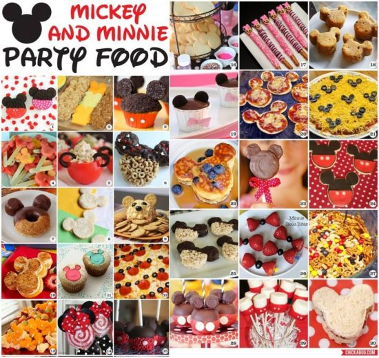 mickey and minnie party food