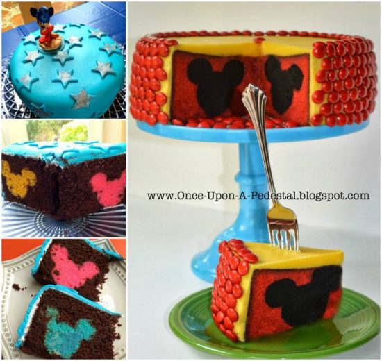 Mickey Mouse Reveal Cake