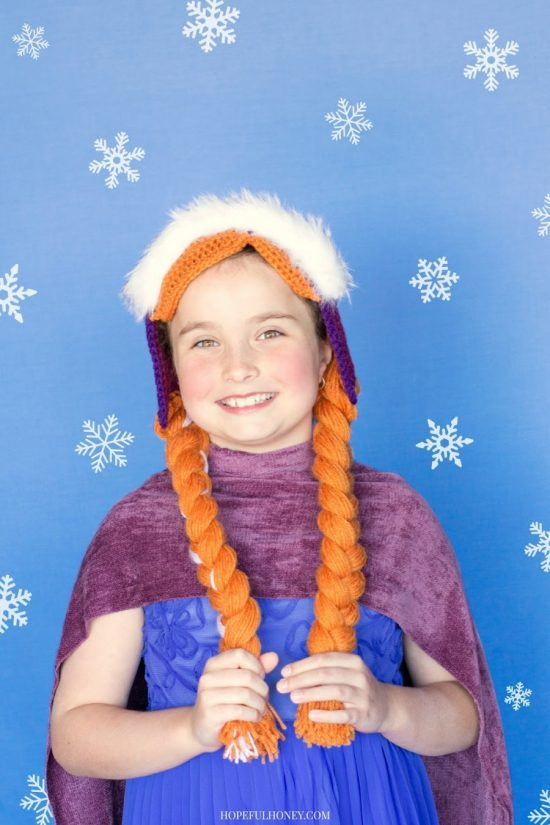 Frozen Anna Crochet Hat and Braids