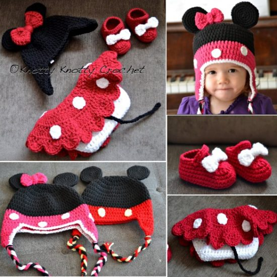 Mickey and Minnie Mouse Crochet Free Patterns