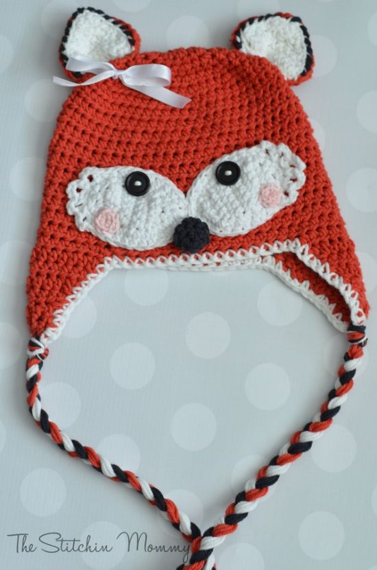 Crochet Fox Hat Free Pattern