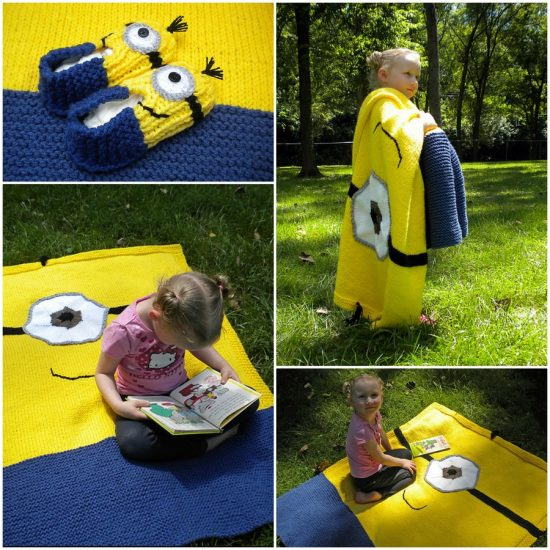 Minion Crochet Blanket