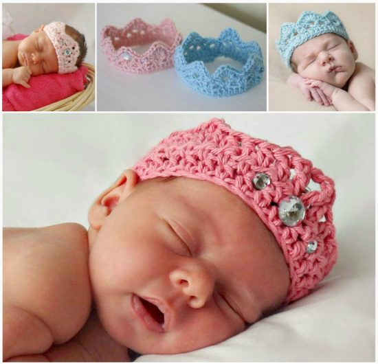 Newborn Crochet Crown FREE Pattern