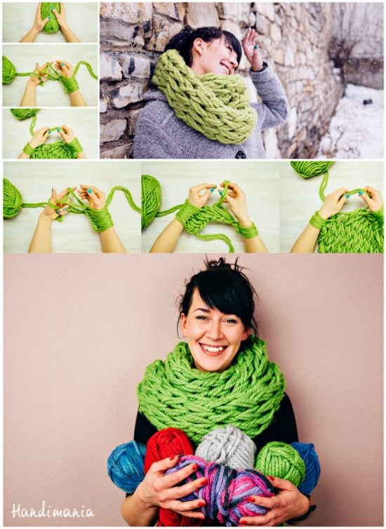 30-minute-arm-knit-scarf-