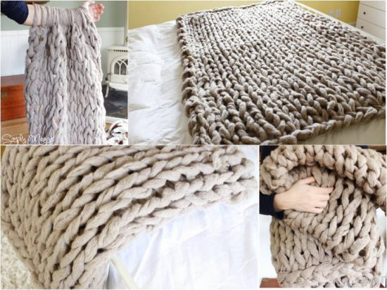 Arm Knitted Blanket FREE Pattern