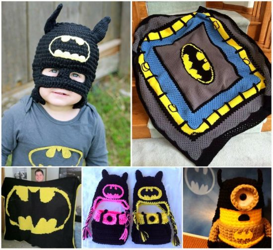 Batman Crochet Projects - Lots of free patterns in our post.