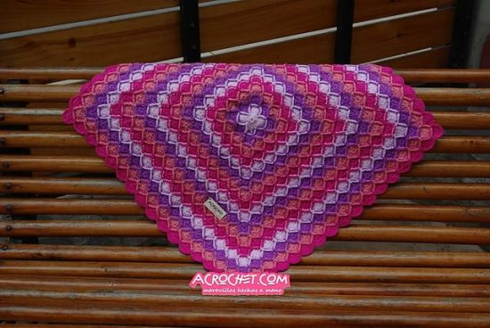 Bavarian Square Crochet Blanket Free Pattern