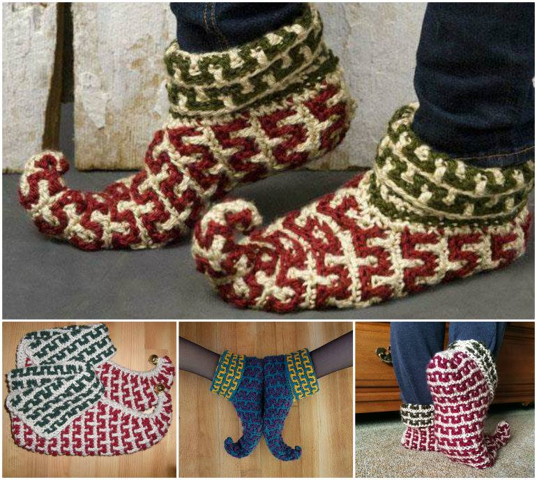 Free Crochet Christmas Slippers Youll Love These Ideas