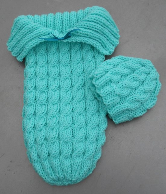 Knitted Baby Cocoon and Hat Free Patterns