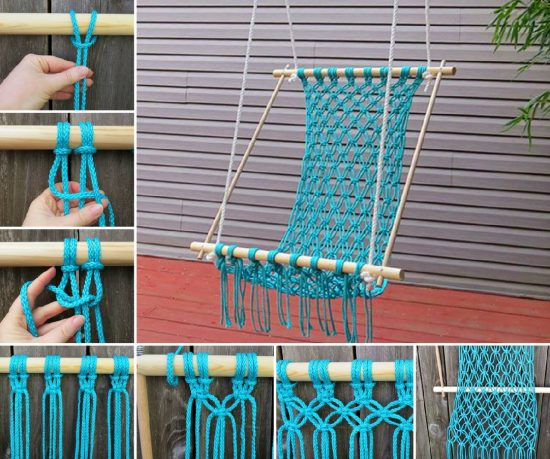macrame crochet hammock knitted hanging chair free pattern perfect for reading nook  rh   thewhoot