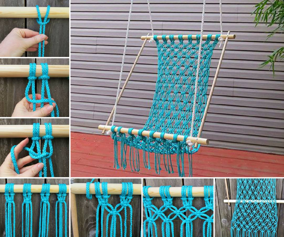 Knitted Hanging Chair Free Pattern Perfect For Reading Nook