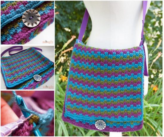 Messenger Crochet Bag Free Pattern