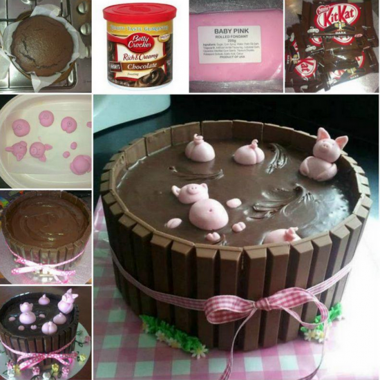 How To Make Pigs In Mud Cake