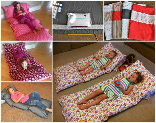 Diy floor pillow bed easy to follow video instructions for Cheap kids pillows