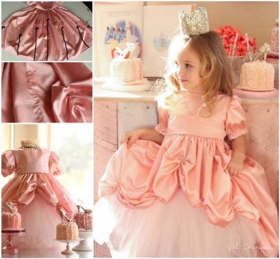 Princess Gown Dress with Bustle