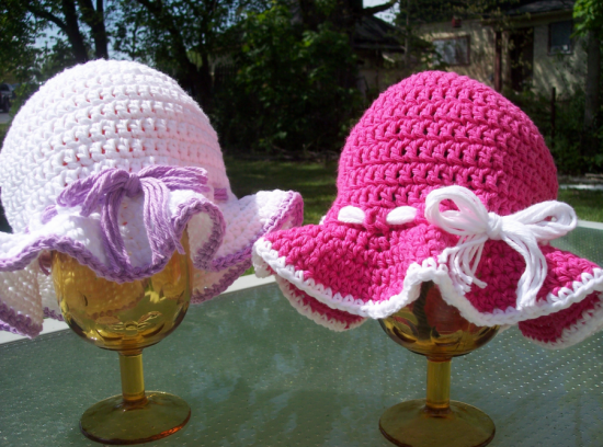 Crochet Sun Hats Free Patterns