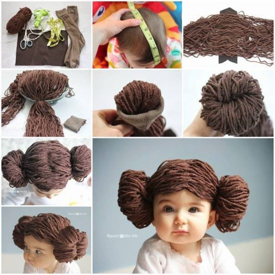 Princess Leia Yarn Wig Free Pattern - lots of Star Wars Free Crochet Patterns on our site