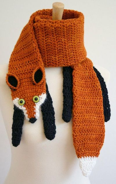 Crochet animal scarves patterns youll love video tutorial fox crochet scarf pattern dt1010fo