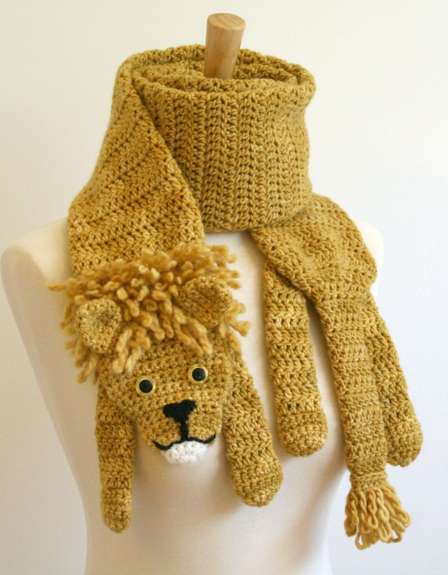 Crochet Animal Scarf - Crochet Lion Scarf Pattern