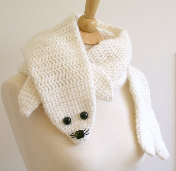 Crochet Animal Scarf - Seal Crochet Scarf