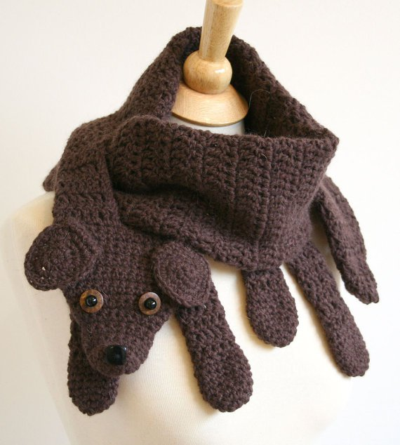 Crochet Animal Scarf - Dog Crochet Scarf Pattern