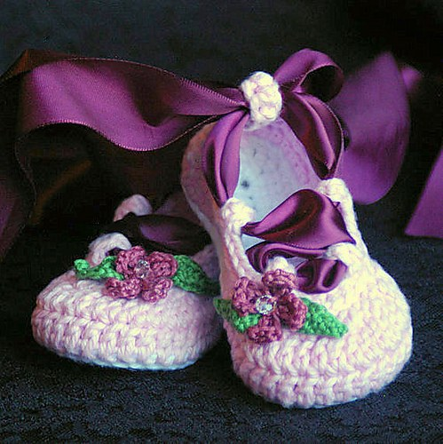 Ballerina Crochet Booties