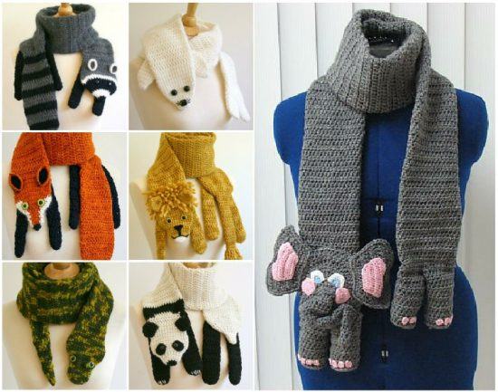 Crochet Animal Scarves Patterns Youll Love Video Tutorial