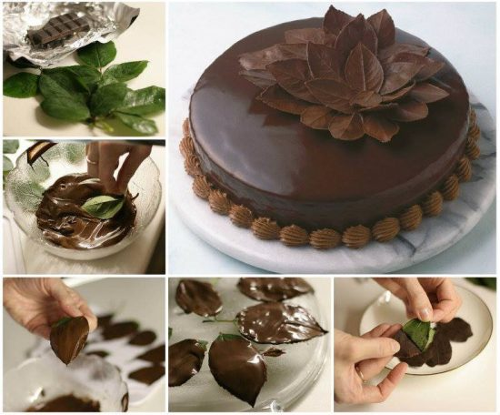 DIY Chocolate Leaves